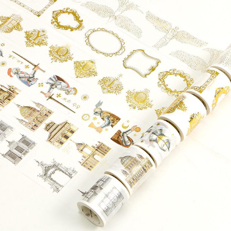 Rome Knight Angel Gilding Decorative Washi Tape DIY Scrapbooking Masking Tape School Office Supply Escolar Papelaria