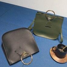 Simple handbag fashion handbag metal pendant cute shoulder bag on a crossbody bag
