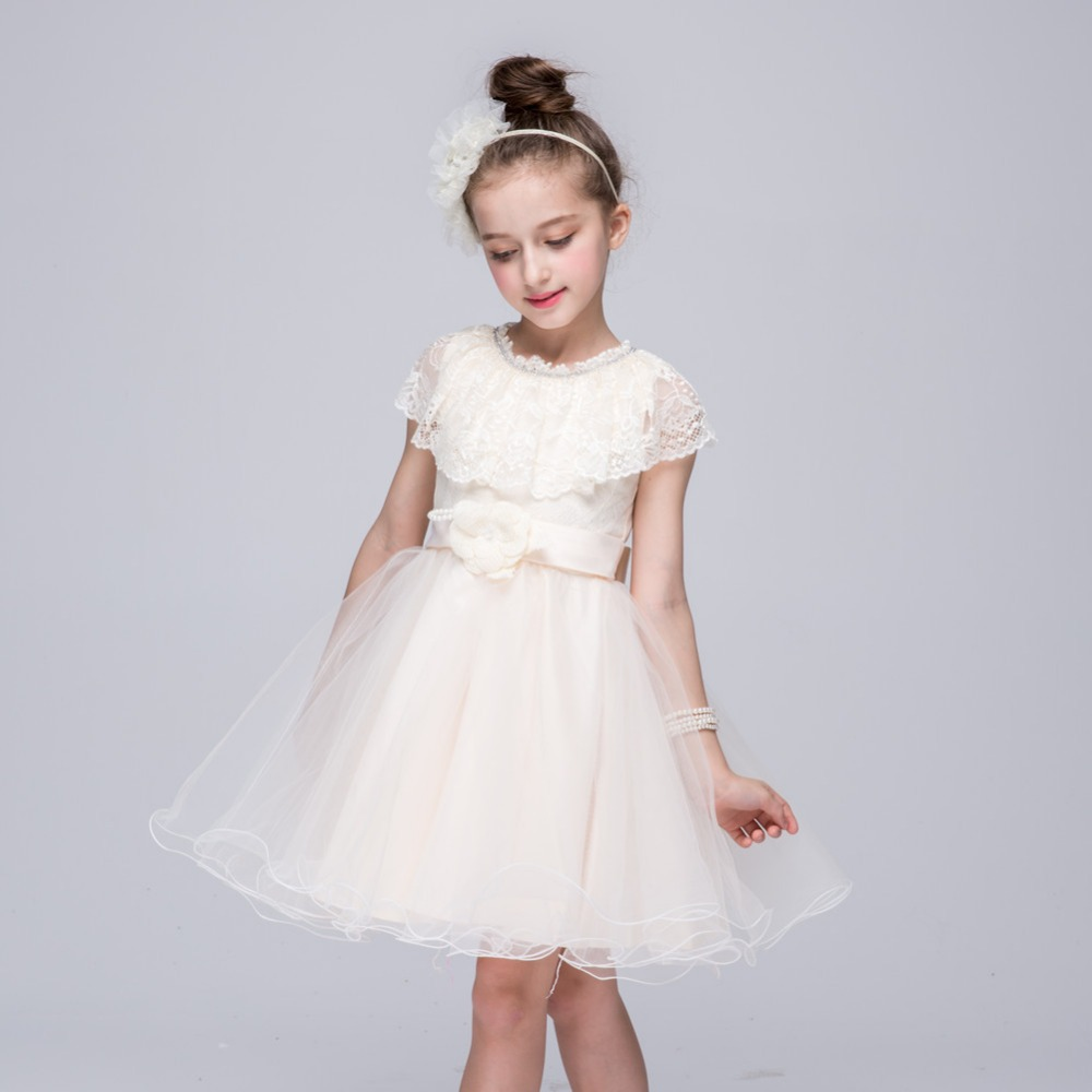 princess dress nova party kids clothing girls dresses summer flower children's evening dresses for girls clothes with lace BH706
