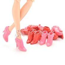 10 Pairs Mix Pairs High Heels Shoes Short Boots For Barbies Doll Color Random