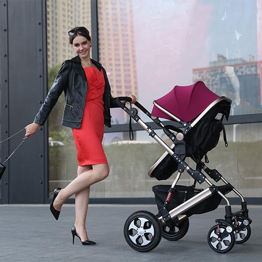 Excelente Calidad Cuna Cochecito Sistema, Bolso Del Bebé, Cochecito Plegable, Carro de Bebé Recién Nacido Durmiendo, Protable Silla de Paseo