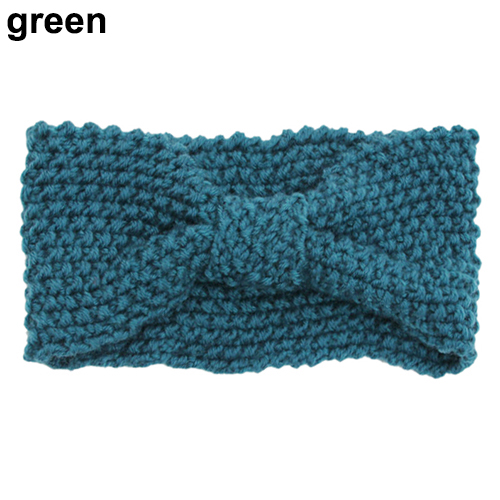 все цены на  Hot Women Girls  Crochet Knitted  Bow Turban Head Hair Band Winter Ear Warmer Headband 5BUB 7EDA  онлайн
