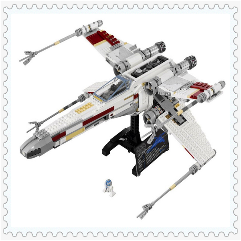 LEPIN 05039 Star Wars Red Five X-Wing Starfighter Building Block 1586Pcs DIY Educational  Toys For Children Compatible Legoe lepin 05003 star wars first order transporter building block 845pcs diy educational toys for children compatible legoe