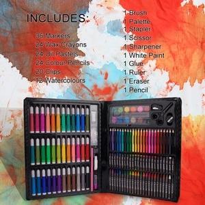 Image 2 - حافظة للرسم من إلهام ، وردي ستوديو فني محمول ، 150 طقم فني ومستلزمات التلوين هدية فنية للأطفال 4 & رائعة للارتيس