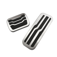 Color My Life No Drilling Non Slip Stainless Steel Gas Fuel Pedal Pad Pedals Cover For