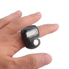Mini 5-Digit LCD Electronic Digital Golf Finger Hand Held Ring Tally Row Counter 0 8 lcd electronic digital 5 digit ring tally counter 1 x ag10