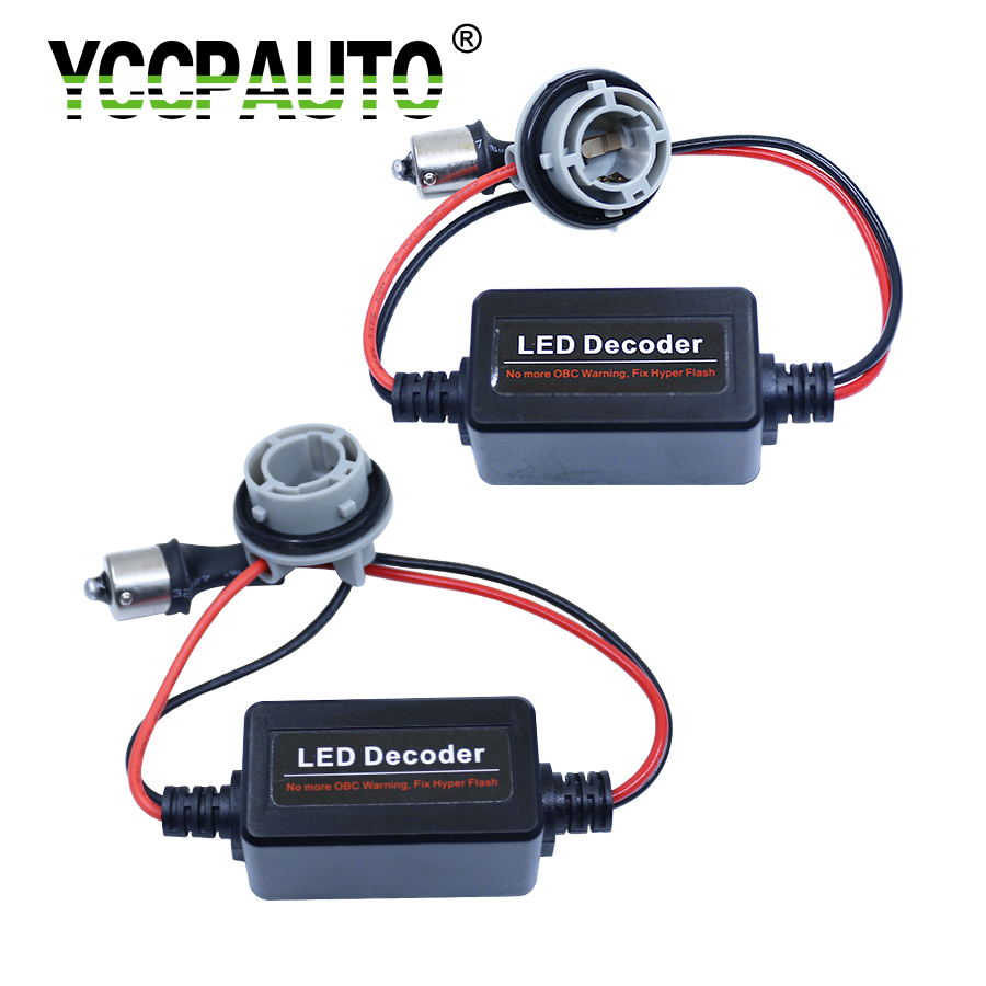 YCCPAUTO T10 T20 1156 1157 Led Canbus Cable Resistor S25 BA15S 7440 7443 3156 3157 Canceller Load No Error Flickering Decoder