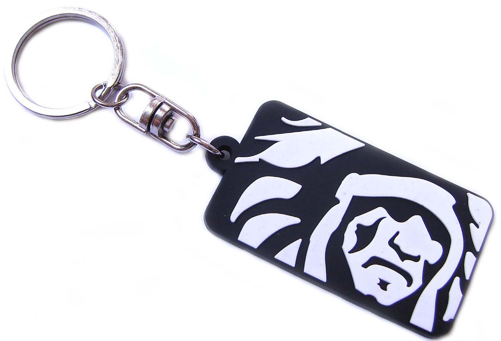 US $139 0 |Customized PVC Keychains Rubber Black Keyring For Advertisement  Custom Design Key Holder chaveiros personalizado-in Key Chains from Jewelry