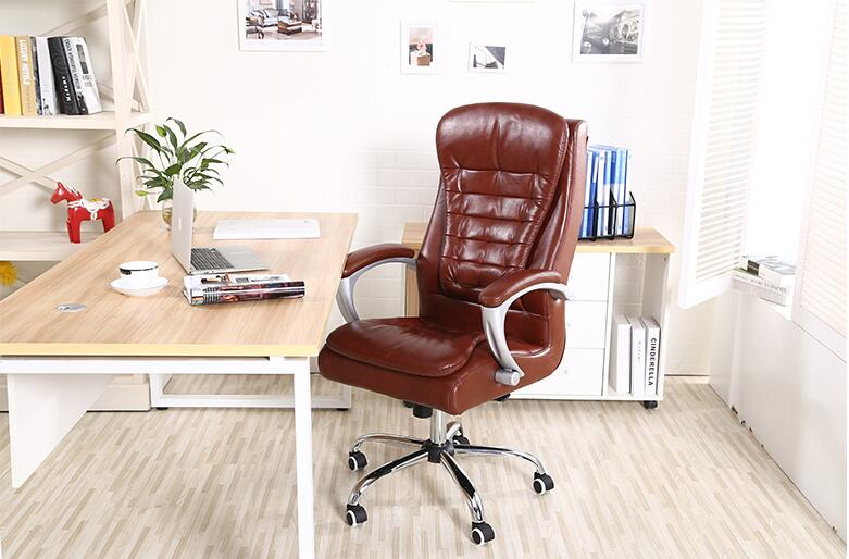 Genuine Leather Computer Chair Cowhide Boss Chair Conference Chair Chair Chair Chair Lift Can Lie Down Swivel Chair Arch Office Sophisticated Technologies
