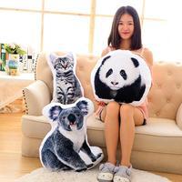 Kreatywny 3D Cute Animal Poduszka Kot Pies Kształt Rzut Poduszki miękkie samochód poduszki kanapy poduszki najlepszy chłopcy i dziewczyny prezent na Boże Narodzenie zabawki W3