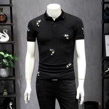 2019 Summer Men T Shirt Printed Short Sleeve Round Neck Slim Casual T-shirt Mens Fashion Streetwear TShirts Tommy Hombres Solid
