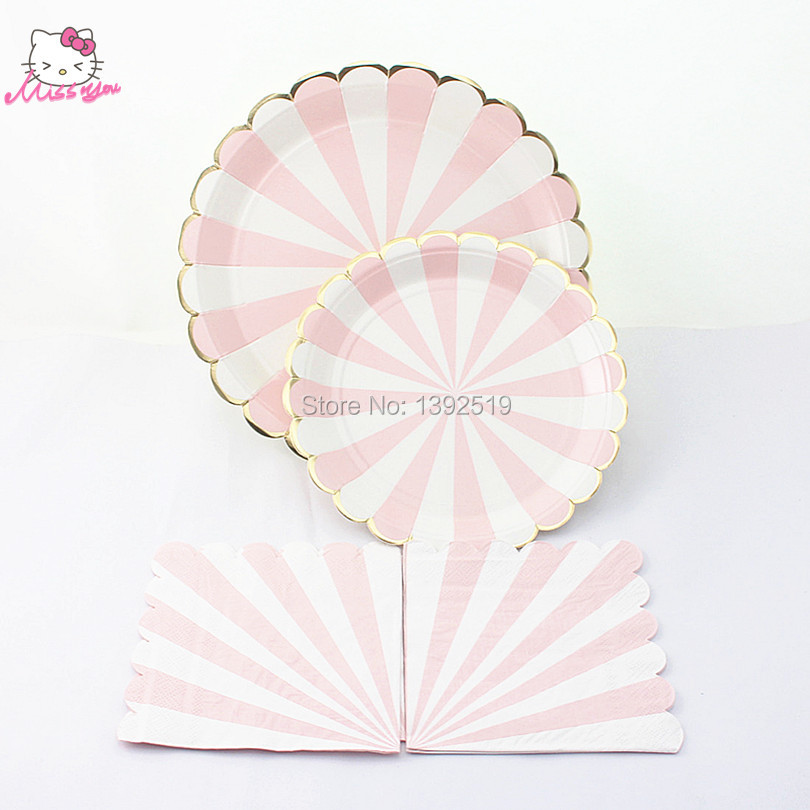 buy 360pcs white pink cake disposable paper plate napkin for wedding fruit dish. Black Bedroom Furniture Sets. Home Design Ideas