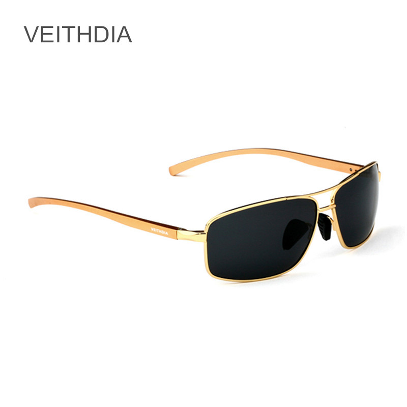 VEITHDIA Men s Rectangle Sunglasses Aluminum Frame Polarized Sun Glasses Driving oculos Sunglass Masculino 2458