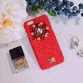 Luxo itália marca de moda logotipo do arco laço de cristal caso de telefone celular para apple iphone 6 6 s 6 plus girlish caso strass