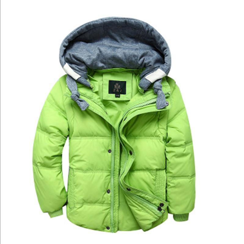 2017 winter children boys down jacket coat fashion hooded thick solid warm coat boys winter coat outwear for 4-13T kids clothes 2016 winter boys wadded jacket kids hooded spider printed thick fleece red blue coat toddler warm outwear children clothes 2 4t