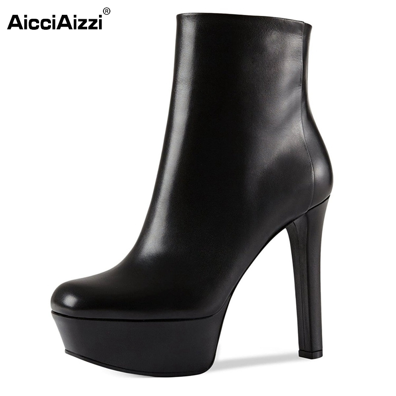 Women Ankle Boots Woman Platfrom Sexy Square Toe Square Heels Boots Fashion Zipper High Heel Footwear Shoes Size 35-46 B081 цены онлайн