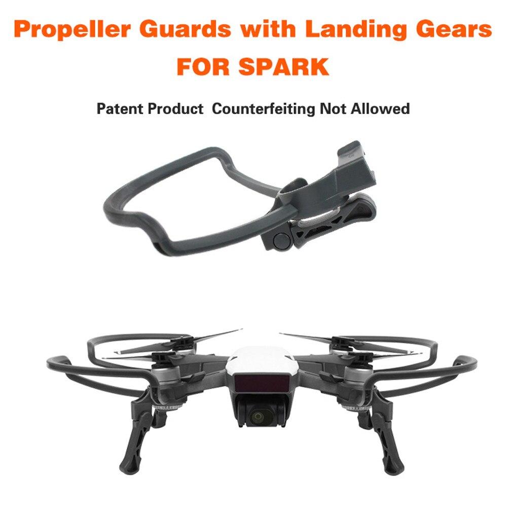 Hélices Gardes + Étendre D'atterrissage Jambes Vitesse Kit Protection pour DJI SPARK Drone RC drop shipping 0901
