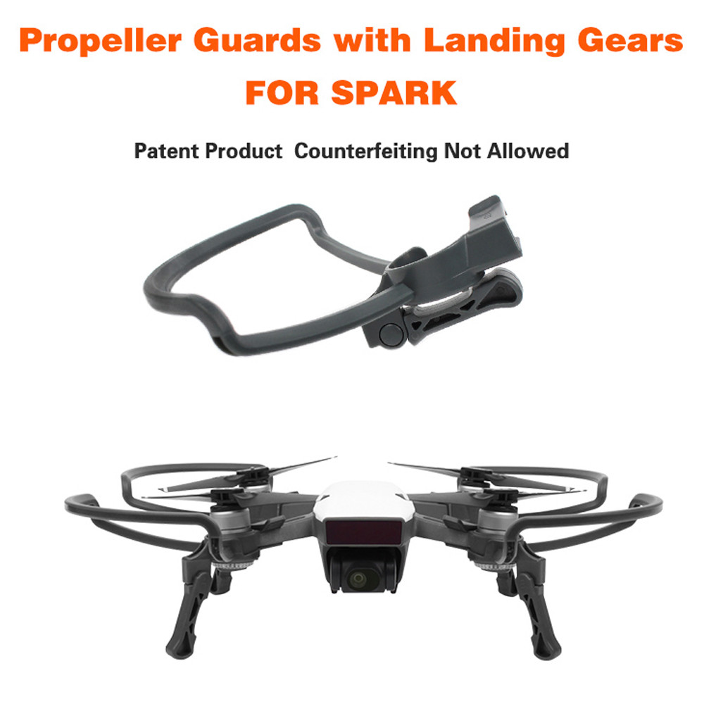 Propellers Guards+Extend Landing Legs Gear Kit Protection for DJI SPARK Drone RC drop shipping 0901 spark propeller guards protectors shielding rings with landing gears stabilizers for dji spark