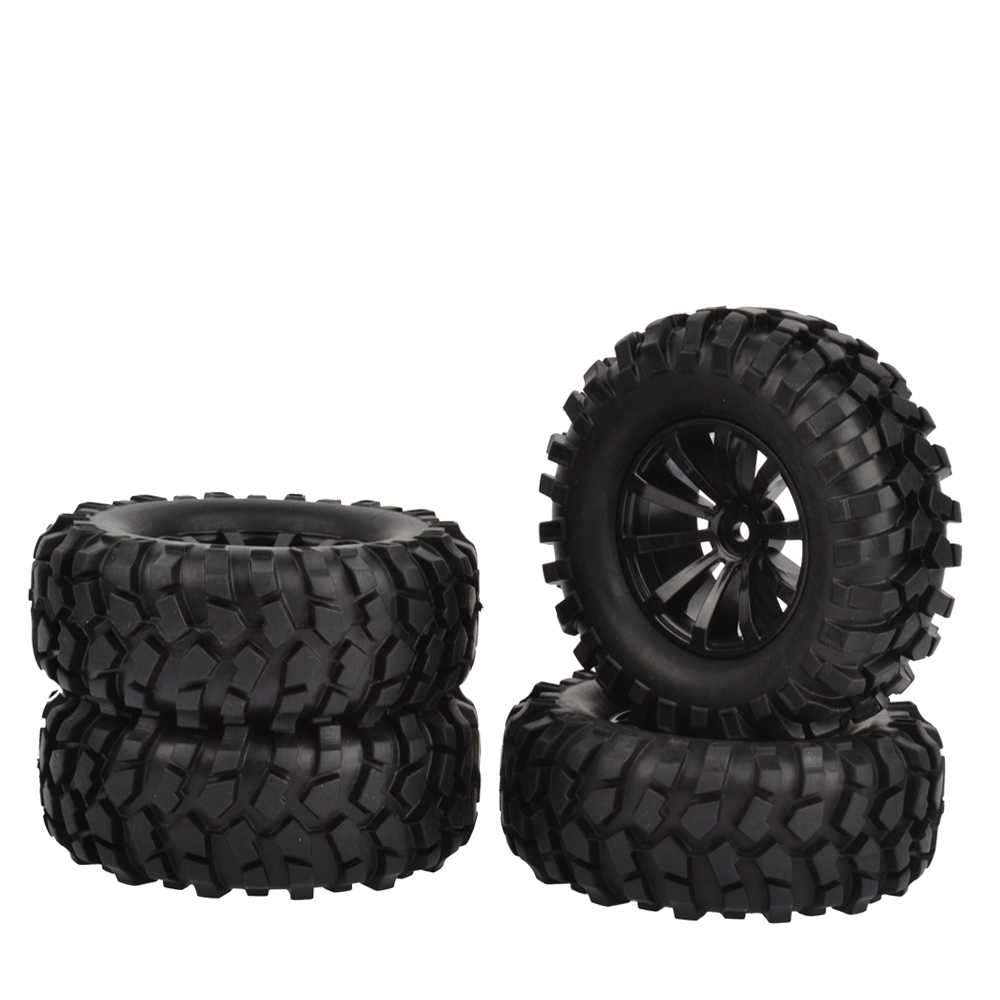 "RCAIDONG 1.9 ""96mm Rubber Wiel Velg en Band voor Axiale SCX10 D90 Tamiya CC01 1/10 RC Rock Crawler auto's"