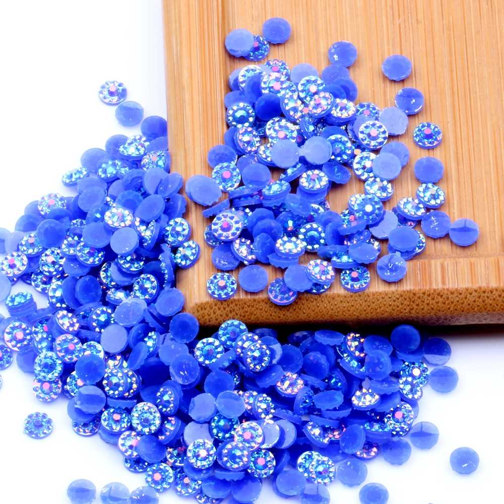 500pcs Mixed 4mm 5mm 6mm Sunflower Jelly AB Color Resin Rhinesstones Flatback Glue On 3D Nail Art Decoration DIY Craft Jewelry