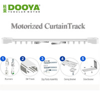 Dooya High Quality Electric Curtain Track Auto Motorized Super Quiet CurtainTrack For Remote Control Electric Curtain