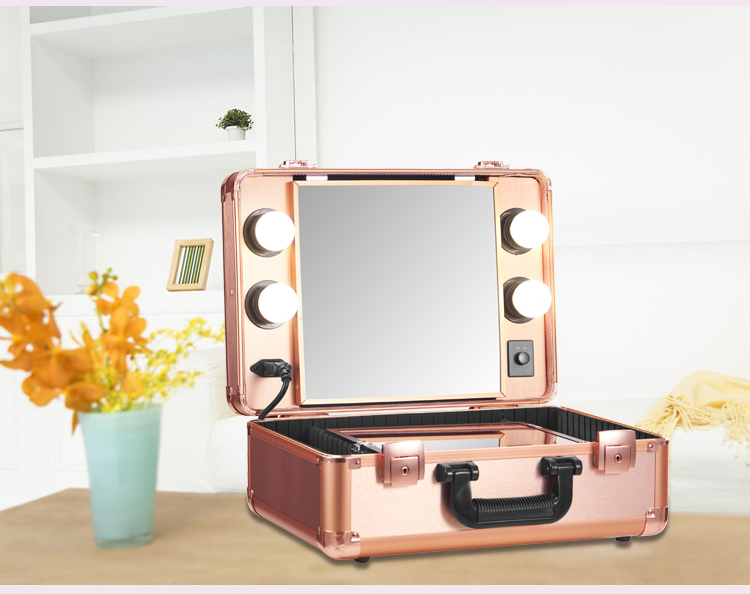 Makeup Artist Train Case With Lights Pro Station Portable Studio Box Five  Colors With LED Light In Cosmetic Bags U0026 Cases From Luggage U0026 Bags On ...