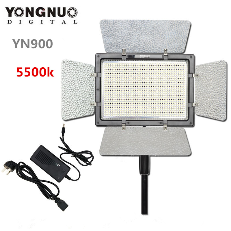 Yongnuo Yn900 High Cri 5500k Video Led Panel Remote Control 900 Light Outside Lighting Solution With Ac Adapter
