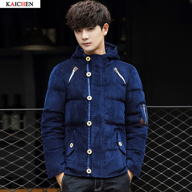 2016 New Clothing Winter Jacket Men Warm Causal Parkas Cotton Hooded Collar Winter Jacket Male Padded Overcoat Outerwear