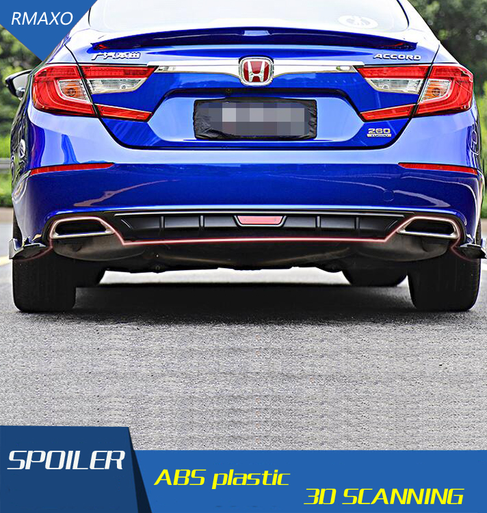 For Honda Accord Body kit spoiler 2018-2020 For Accord ABS Rear lip rear spoiler front Bumper Diffuser Bumpers Protector