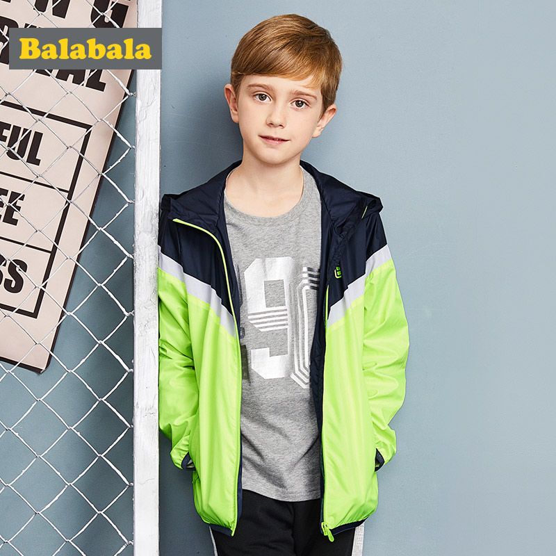 Balabala Верхняя одежда для мальчиков; пальто с длинным рукавом Весна одежда для детей детские пальто с капюшоном детская одежда для мальчиков