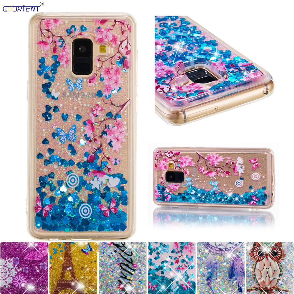 Cellphones & Telecommunications Fitted Cases Fitted Case For Samsung Galaxy A8 2018 Glitter Cover Sm-a530f/ds Sm-a530w Sm A530f/ds Bling Dynamic Quicksand Liquid Phone Funda