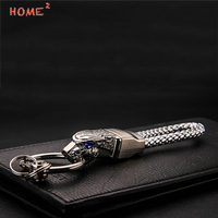 Car Styling Key Ring Leopard Head Auto Keychain Keyring For Geely Yamaha VW Vespa Tesla SSANG