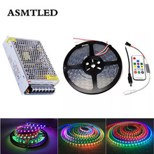 5m DC12V WS2811 LED Pixel Strip Set Addressable Digital 2811 Programmable Full Color Tape External IC With Controller+Power 2811