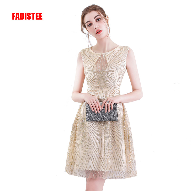 FADISTEE Hot sale   cocktail   party   Dresses   short Vestido de Festa mini sexy   dress   sequin style bling sexy free shipping