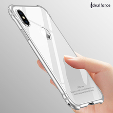 Glass back / Quality Luxury Aluminum Metal Bumper For iphone X Case Frame With back Tempered backup Protector cover