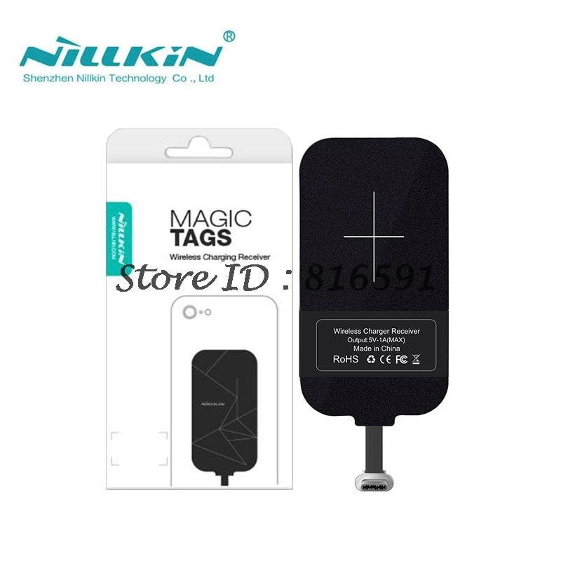 Nillkin Magic etiqueta QI receptor de carga inalámbrico Micro USB/Tipo C adaptador para iPhone 5S SE 6 6 S 7 Plus para Samsung S6 S7 borde