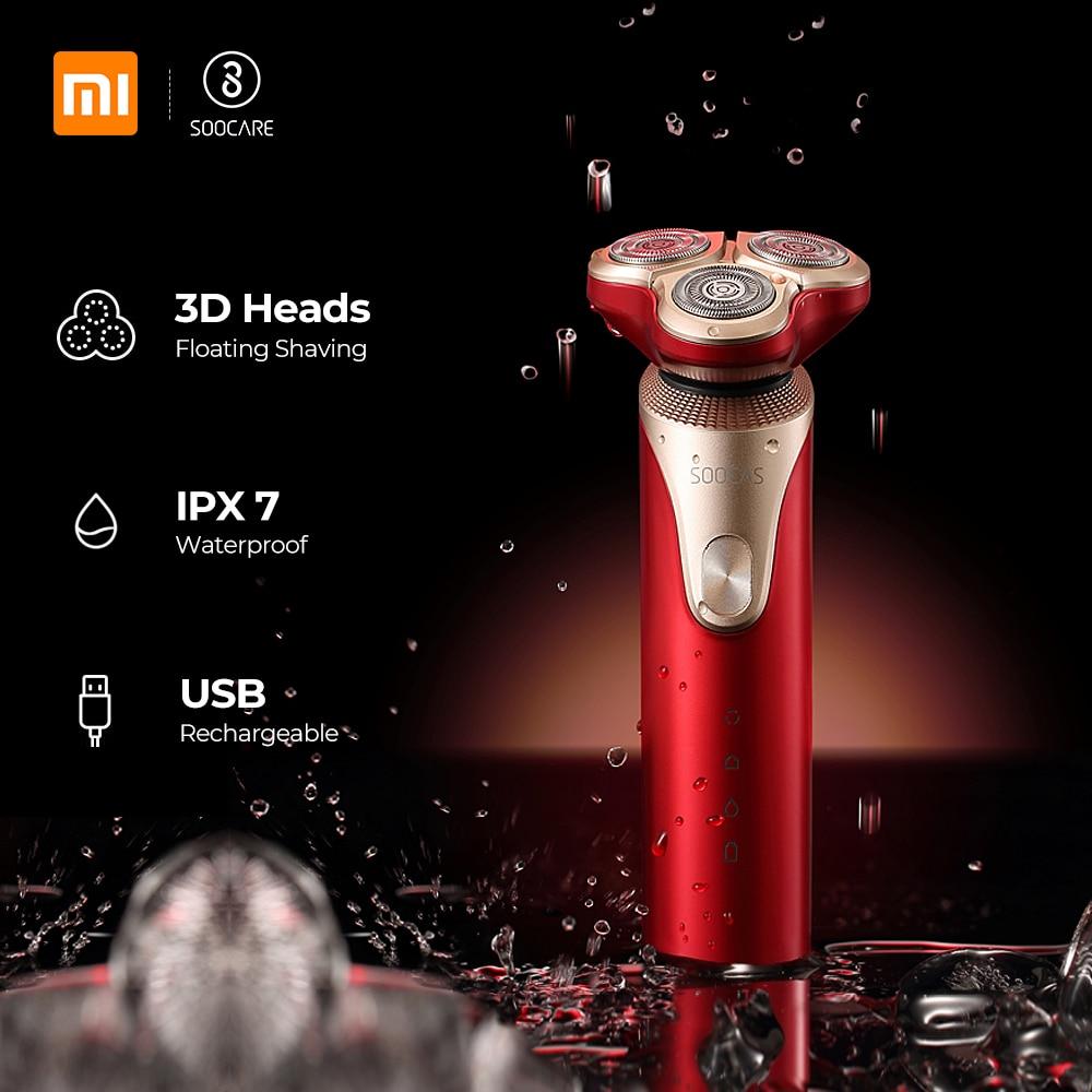 Xiaomi Mijia SOOCAS S3 Electric Shaver For Men 3 Cutter Head Dry Wet Shaving Wireless USB Rechargeable Waterproof Razor