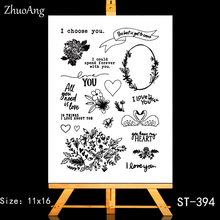 ZhuoAng Happy story Clear Stamps/Card Making Holiday decorations For  scrapbooking Transparent stamps 11*16cm