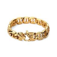 Men Bracelet Silver Color / Gold Color Vintage 316L Stainless Steel Bracelet & Bangle Wrist Band Hand Chain Jewelry Hip Hop
