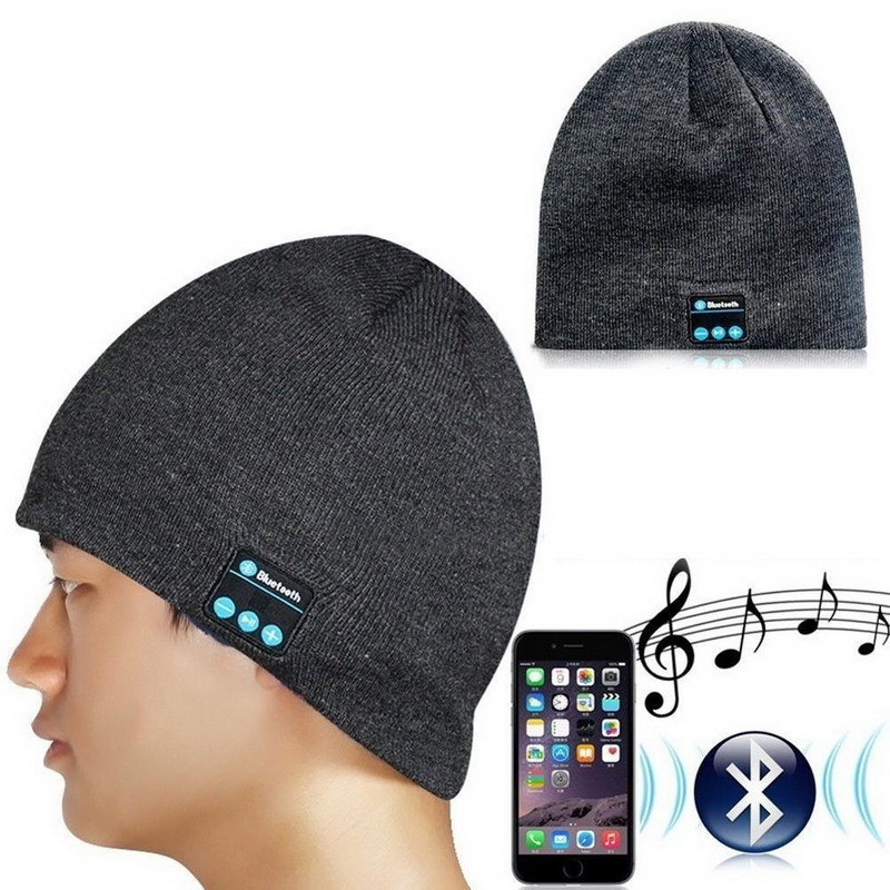 Wireless Bluetooth Headphones Music Hat Smart Caps Headset Stereo Earphone Warm Beanies Winter Hat with Speaker Mic for Sport aetrue knitted hat winter beanie men women caps warm baggy bonnet mask wool blalaclava skullies beanies winter hats for men hat