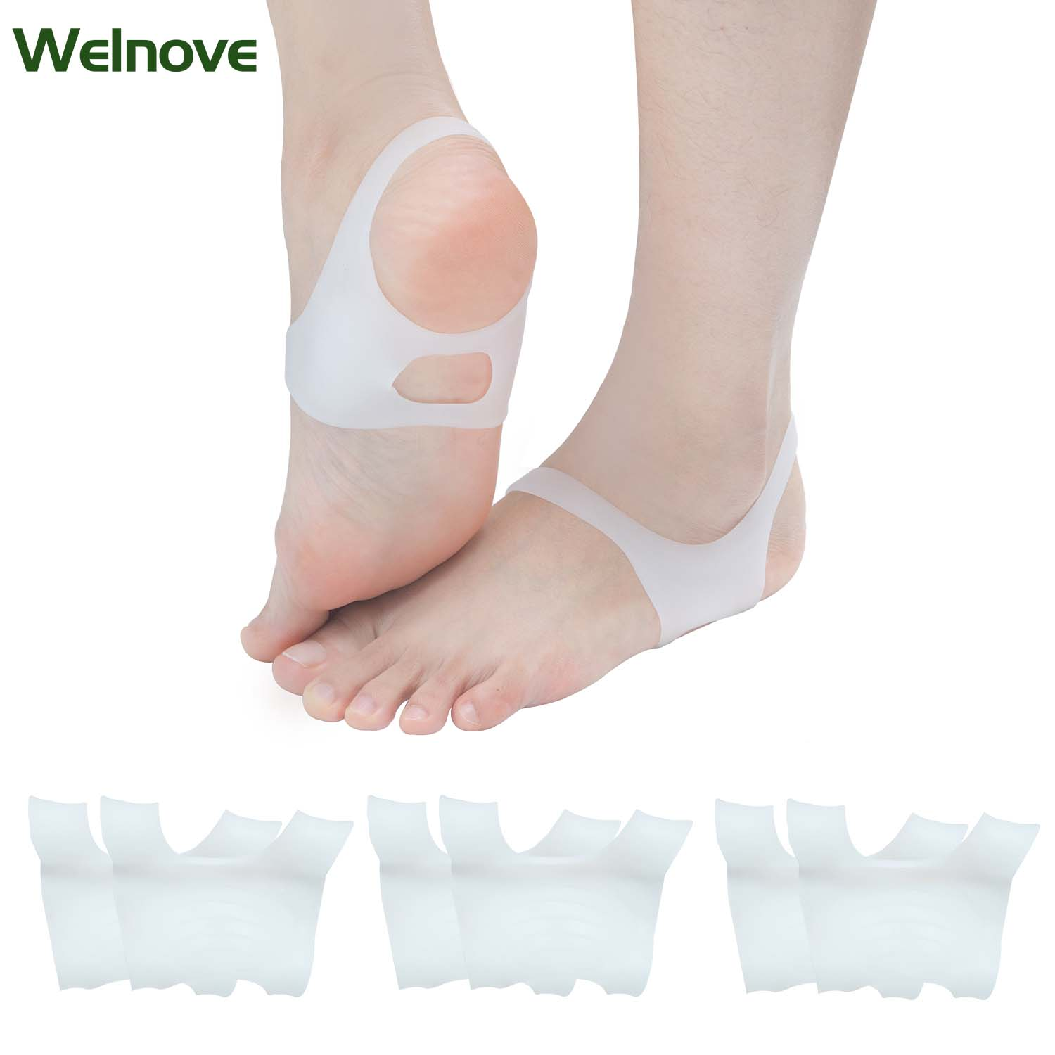4 Pairs No Slip Shoes For Men And Women Insoles Pads Silicone Insoles Orthopedic Insoles O-type Foot Correction Valgus D1258