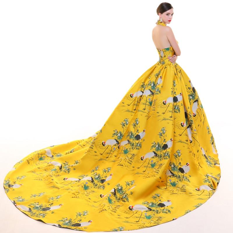 CEEWHY dos ouvert turquie robe de soirée musulmane arabie saoudite imprimer Floral robe formelle longues robes de soirée Vestido de Festa Longo - 5