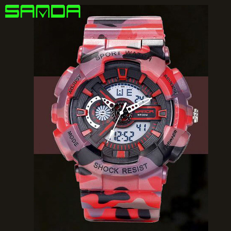 New SANDA Brand Men Sports Watches G Style Male Dual Display Watch Fashion Casual Digital