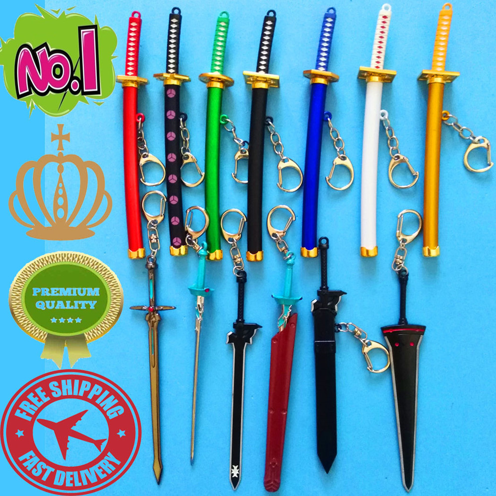 Mini Exquisite Weapon Model Samurai Sword Keychain Game Movie Anime Prop Key Ring Sword Belt Sheath Key Pendant Gift