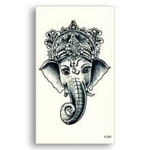2pcs Water Transfer Fake Tattoo Waterproof Temporary Sticker Indian Elephant God Ganesha Buhhda Male Female Cool Beauty Body Art