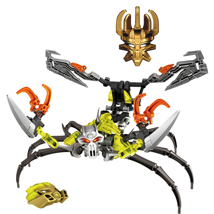 BionicleMask of Light XSZ 710-4 Childrens Skull Scorpio Bionicle Building Block Toys Compatible With Legoings Bionicle 70794BionicleMask of Light XSZ 710-4 Childrens Skull Scorpio Bionicle Building Block Toys Compatible With Legoings Bionicle 70794