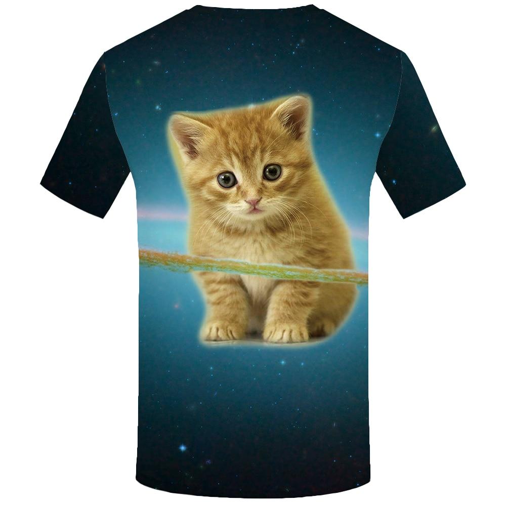 KYKU Brand Cat T shirts Space T Shirt Galaxy Tshirt Lovely Tees 3d