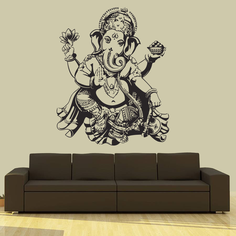 Buddha dance indian hinduism wall sticker home decor wall for Home interior wall design 2