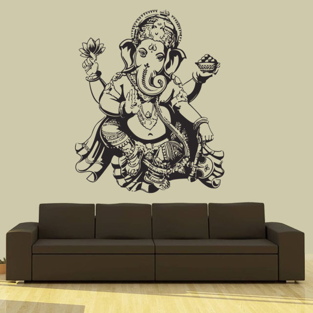 Aliexpresscom Buy Buddha Dance Indian Hinduism Wall Sticker