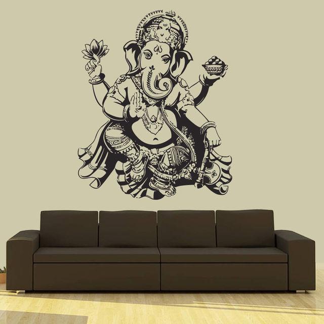 Ganesh Elephant God Indian Hinduism Wall Sticker Home Decor Wall Decal